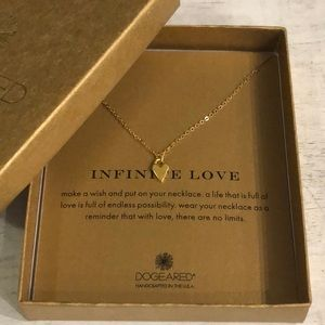 "Dogeared Infinite Love Gold Plated 18"" Necklace"